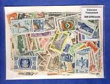 Colonies Françaises avant indépendance 500 timbres différents