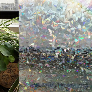 3D Embossed Holographic Effect Electrostatic Window Film for Home Decoration DIY