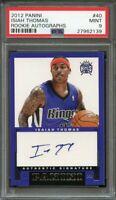 2012-13 panini rookie autographs #40 ISAIAH THOMAS cavaliers rookie card PSA 9
