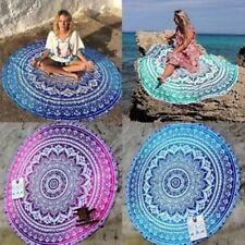 "Indian Roundie Mandala Tapestry Indian 48"" Round Hippie Beach Towel Yoga Mat 72"""