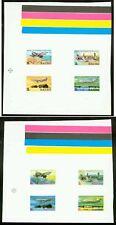 Nauru 1980 Air Nauru set COMPOSITE MASTER PROOF SHEETS