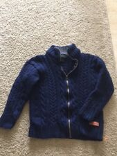 VINTAGE 100% NEW WOOL PEREGRINE SWEATER IN NAVY BLUE MADE IN ENGLAND