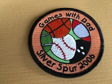 Girl Scout Patch - Games with Dad Silver Sage 2006 - New - Qty 1