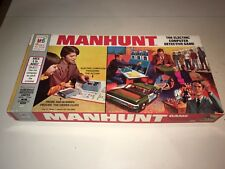 Vintage 1972 MANHUNT Detective Boardgame from Milton Bradley 100% COMPLETE GREAT