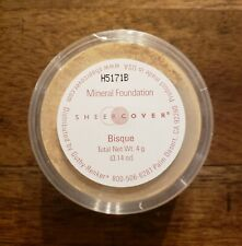 Sheer Cover Mineral Foundation BISQUE Powder Full Size 4 g New & Sealed