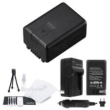 VW-VBK180 Battery + Charger + BONUS for Panasonic HDC-TM55 TM60 SDR-H100 T70