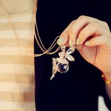 Collier châine double doré pendentif fée  SWAROVSKI® ELEMENTS  + pochette cadeau