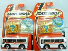 Matchbox 2005 Metro Shuttle City Bus Diecast Car Lot of 2: #18 New In Package