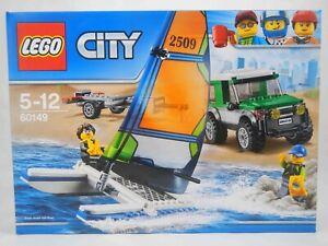 LEGO 60149 4x4 With Catamaran Set City Boat Trailer 2 Minifigures Sealed Box NEW