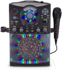 New listing Singing Machine Sml385Ubk Bluetooth Karaoke System with Led Lights, Usb, Cd+G,