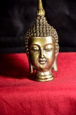 "7"" Silver Buddha Bust/Head w/ Tibetan Stamp"