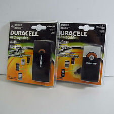 LOT OF 2X DURACELL RECHARGEABLE BATTERY POCKET CHARGER (S400)