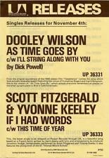 Dooley Wilson Scott Fitzgerald Yvonne Keeley  Flyer