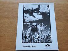TRANQUILITY BASS 8x10 BLACK & WHITE Press Photo 90's ELECTRONIC TRIP HOP