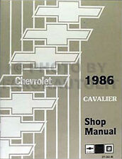 1986 Chevy Cavalier Shop Manual Chevrolet CS RS Z24 Repair Service Book Original
