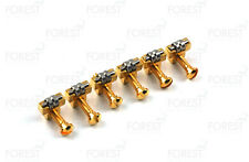 Gibson guitar bridge saddle replacement Roller TOM set of 6, PS112, gold finish