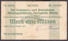 Ostritz -Commerz- u. Privatbank AG/S.Heymann AG- 1 Million Mark vom 15.08.1923