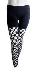 Black Fishnet Leggings Punk Rocker One Size Fits Sizes 0 - 10