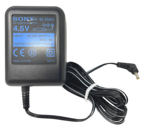 Sony 4.5V 500mA Power Supply Adapter For CD Player Discman MiniDisc Walkman