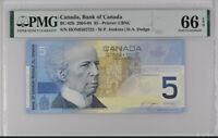 Canada 5 Dollars 2002 / 2005 P 101 D GEM UNC PMG 66 EPQ