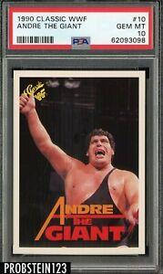 1990 Classic WWF Wrestling #10 Andre The Giant PSA 10 GEM MINT