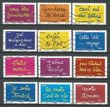 "˳˳ ҉ ˳˳FR43 France Smiles  ""Les Mots de Ben"" 2011 complete set 12 used"