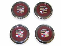 4pcs CHROME Wire Wheel Spoke Center Caps 1977-1996 Cadillac RWD NEW SET