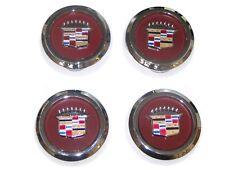 4pcs CHROME Wire Wheel Spoke Center Caps 1977-1996 Cadillac RWD NEW SET