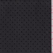 Black Flocked Dot Stretch Mesh, Fabric By The Yard