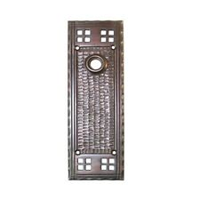 Bungalow Door Back Plate Mission Arts and Crafts Oil Rubbed Bronze Antique Style