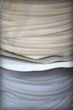 1 METRO Chiusura lampo CERNIERA a Metraggio colore Panna, Nero, Bianco