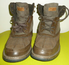 Vintage Tommy Hilfiger Mens Hiking Boots Brown Lace Up  High Top Leather 11. M