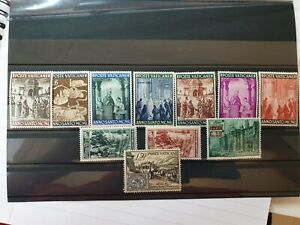 11 x Vatican stamps collection 1950 + 1951 + 1952 new