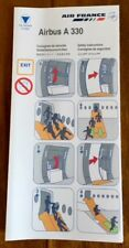 AIR FRANCE - (SKYTEAM) - AIRBUS A330 01/2008 - SAFETY CARD - CONSIGNES