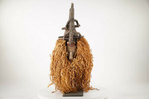 "Impressive Yaka Decorative Face Mask 34"" - DR Congo - African Art"