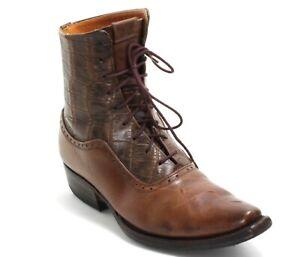 Cowboystiefel Line Dance Catalan Style Western Leder Schnürschuh Boots 37