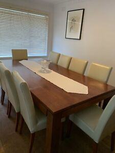 10 Seater Dining Table And Chairs - table $800 And Chairs $500 If Sold Seperate