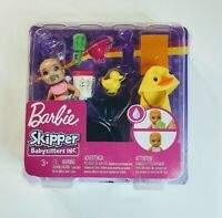Barbie Skipper Babysitters Inc Feeding and Bath-Time with Baby Playset Toy