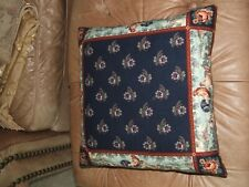 """victorian Floral  with rooster border 16"""" x 16"""" Throw  Pillow"""