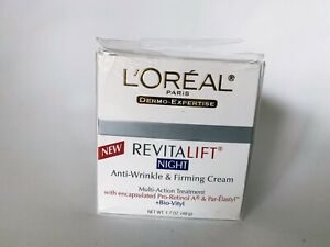 L'Oreal Paris Revitalift Hydrating Night Cream Anti-Wrinkle Firming 1.7 oz NOS