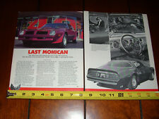 1976 PONTIAC TRANS AM 455 - ORIGINAL 1984 ARTICLE