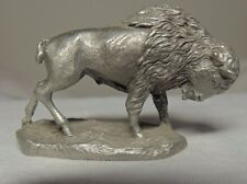 RAWCLIFFE 1986 FINE PEWTER BUFFALO, # 732, MADE IN USA, NICELY DETAILED!