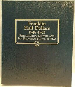 Whitman Classic Album Franklin Half Dollars 1948-1963 New #9126