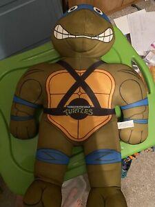 Vintage 1992 Playmates Teenage Mutant Ninja Turtles LEONARDO Practice Pal Plush!