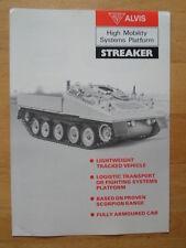 ALVIS STREAKER High Mobility Systems Platform Tank 1984 Military Sales brochure