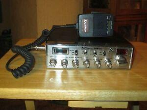 Vintage Cobra 148 GTL AM & SSB Side Band CB Radio W Cobra Echo Microphone Mike