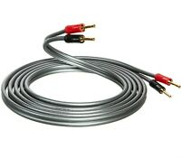 QED Reference XT40i Speaker Cable 2 x 3m Terminated 8 AIRLOC Forte Banana Plugs