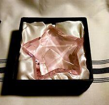 Rosenthal Crystal Paperweight Pink Star w/ Original Packaging - Star Figurine