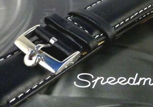 OMEGA 18mm Buckle 20mm white stitched Strap fits Omega Speedmaster