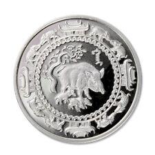 Mongolia Year of the Pig 500 Tugrik Terper BU Silver Crown